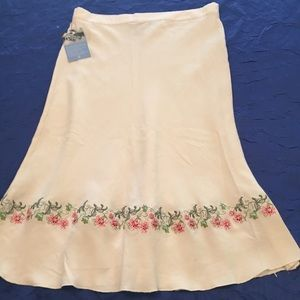 NWT Of the Earth Hemp & Silk Lined Skirt Large